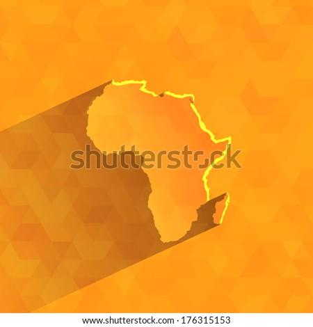 Africa. Vector format - stock vector