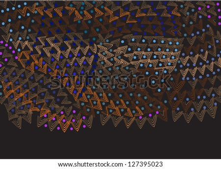 African background of the various elements in vintage style - stock vector