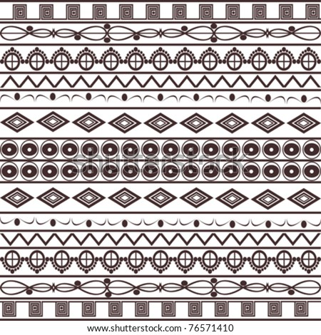 African pattern on white background - stock vector