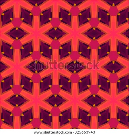 African vintage pattern bright texture with grunge effect - stock vector