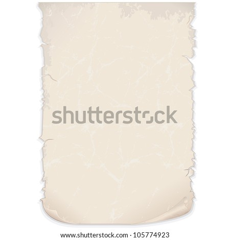 Aged Paper Poster. Vector Image - stock vector