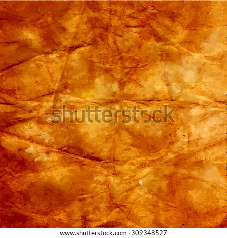 Aged paper texture. - stock vector