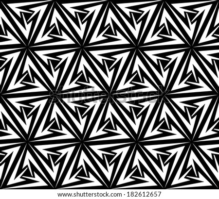 Aggressive Arrows Seamless Pattern. Vector Illustration - stock vector