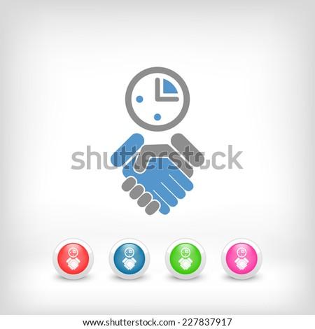 Agreement icon - stock vector