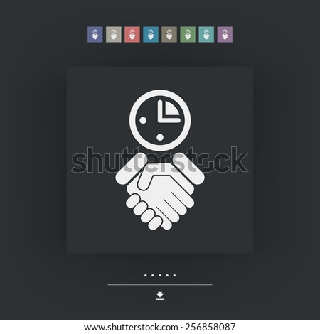 Agreement icon - stock vector