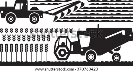 Agricultural machinery farm - vector illustration - stock vector