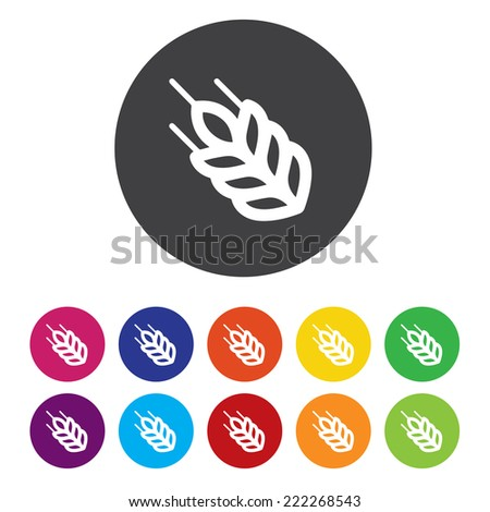 Agricultural sign icon. Gluten free / No gluten - stock vector