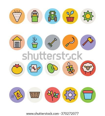 Agriculture Vector Icons 6 - stock vector