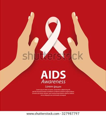 Aids Awareness concept. Vector illustration. - stock vector