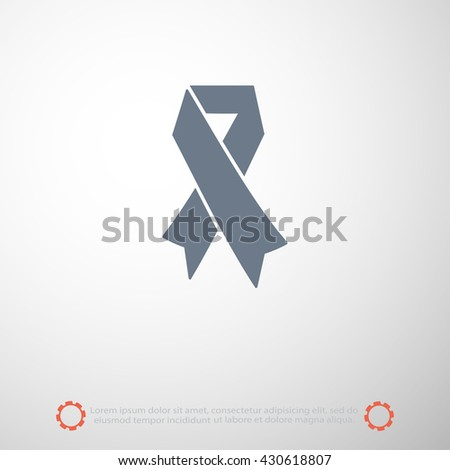 AIDS awareness ribbon icon - stock vector