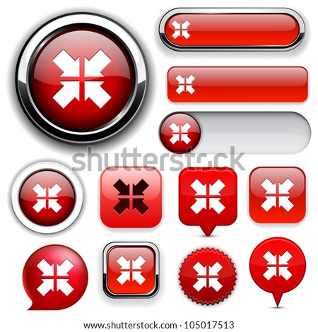 Aim red design elements for website or app. Vector eps10. - stock vector