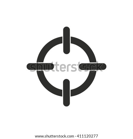 Aim   vector icon. Black illustration isolated on white  background for graphic and web design. - stock vector