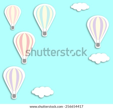 Air balloons vintage vector illustration for business inspirational backgrounds and corporate identity - stock vector