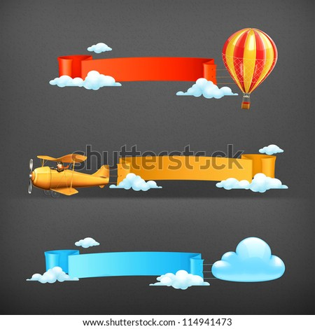 Air banners vector - stock vector