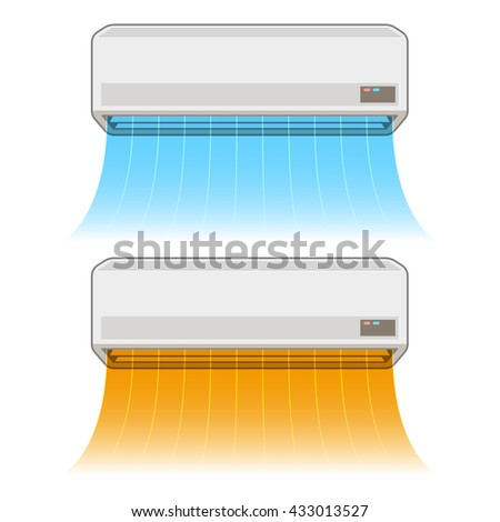 Air conditioning heating and cooling - stock vector