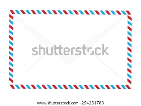 Air mail envelope - stock vector