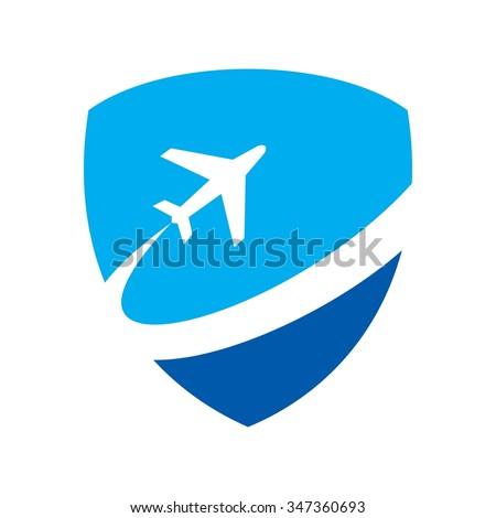 air plane logo vector - stock vector