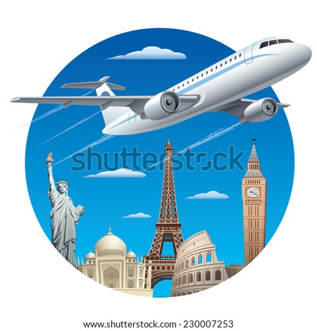 air travel concept - stock vector