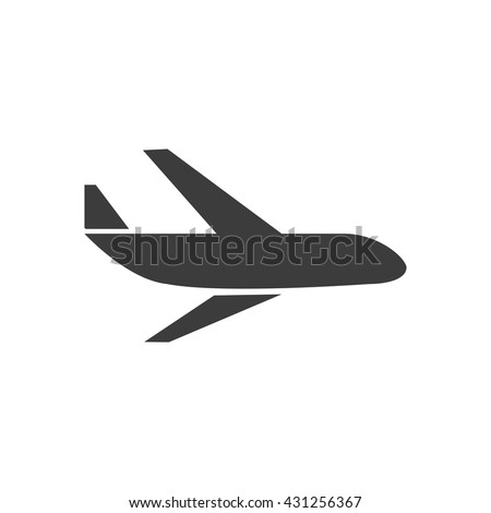 Aircraft icon. Aircraft Vector isolated on white background. Flat vector illustration in black. EPS 10 - stock vector