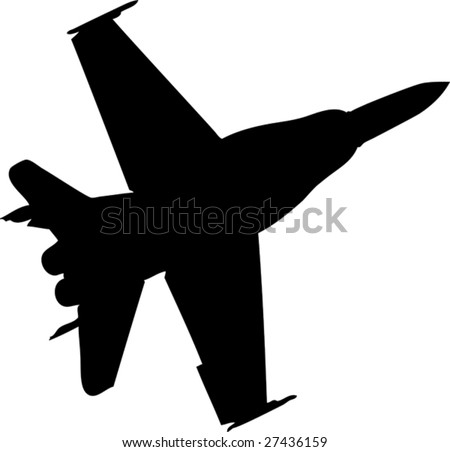 aircraft silhouette - stock vector