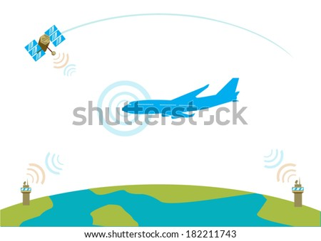 Airliner communication concept. EPS10 vector illustration - stock vector