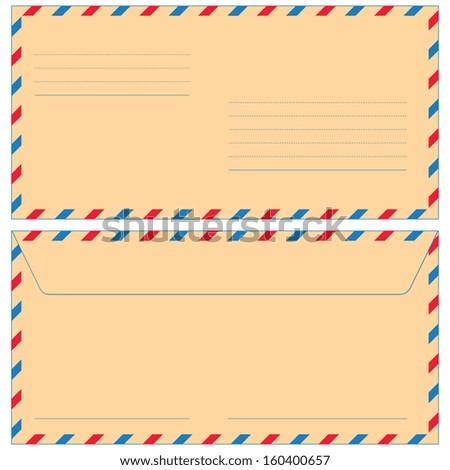 Airmail envelope for various design - stock vector