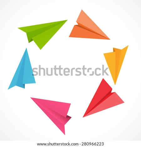 Airplane Backgrund Vector Illustration. EPS10 - stock vector