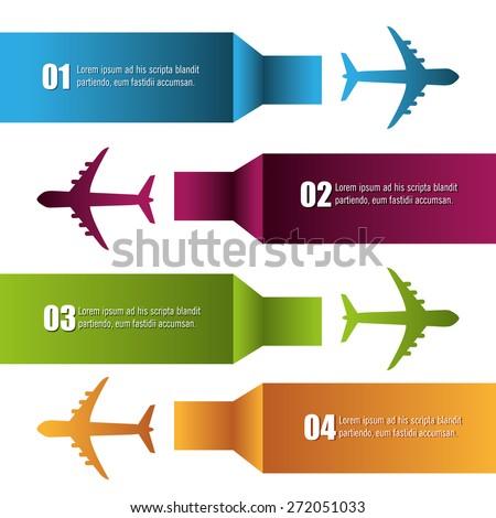 Airplane design over white background, vector illustration. - stock vector