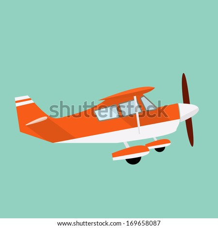 Airplane flat illustration - stock vector