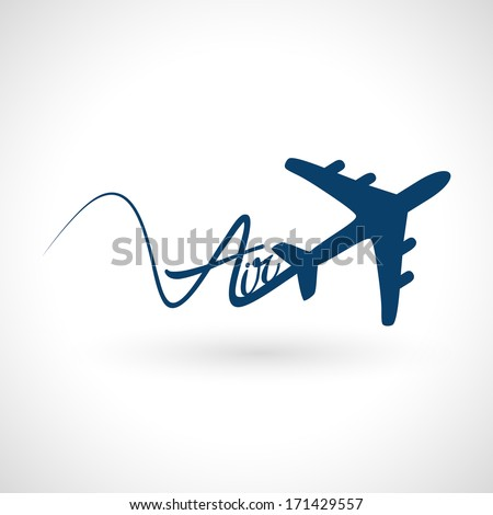 airplane flight icon silhouette in vector format - stock vector