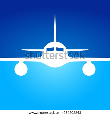 airplane flight tickets air fly travel takeoff blue element - stock vector