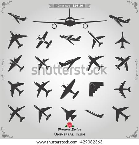 Airplane icons, airplane Icon Vector. airplane Icon Art. airplane Icon Picture. airplane Icon Image. airplane Icon logo. airplane Icon Sign. airplane Icon Flat. airplane Icon design. airplane icon app - stock vector