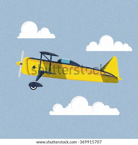 Airplane in the sky. Vector illustration - stock vector
