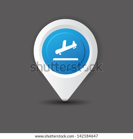 Airplane symbol,vector - stock vector