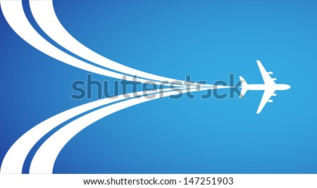 Airplane symbol vector design - stock vector