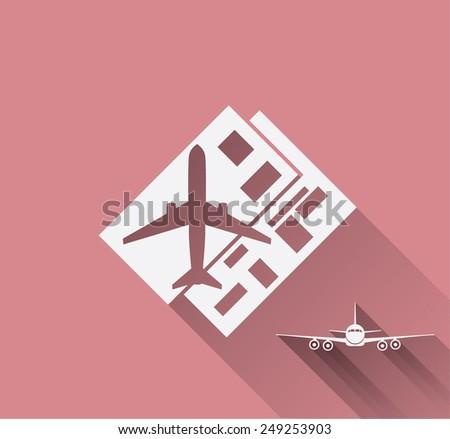 airplane ticket - stock vector