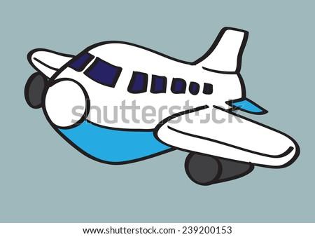 Airplane Vector Cartoon Illustration - stock vector