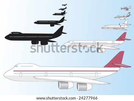 Private Jet Stock Vectors Amp Vector Clip Art  Shutterstock