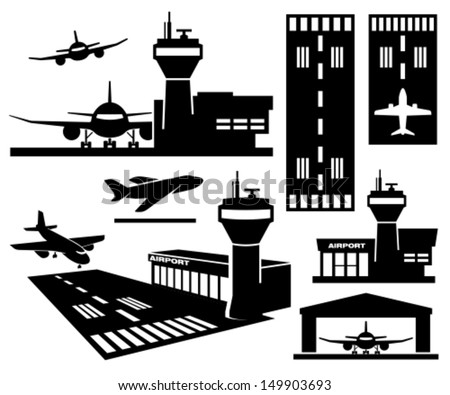 Airport - stock vector