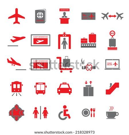 Airport Icon - stock vector