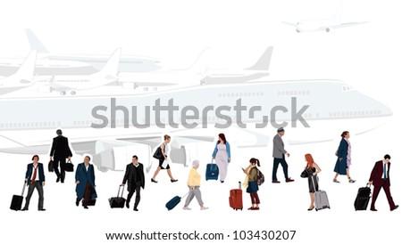 Airport Illustration - stock vector
