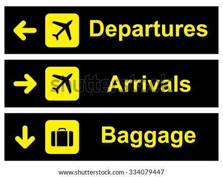 Airport Sign . Vector illustration - stock vector