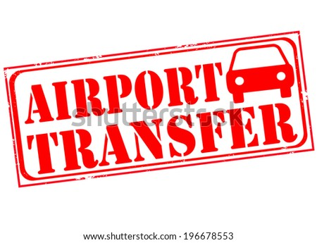 airport transfer grunge stamp wth on vector illustration - stock vector