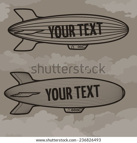 airship - stock vector