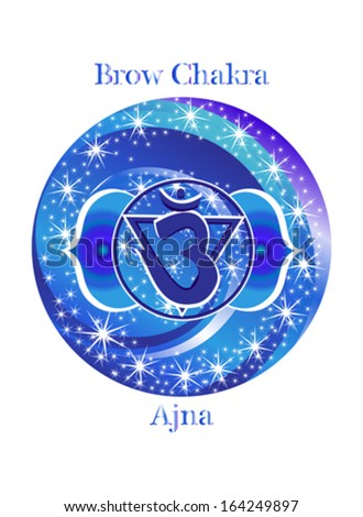 Ajna chakra vector illustration - stock vector