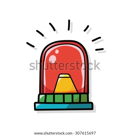 alarm bell color doodle - stock vector