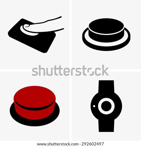 Alarm buttons - stock vector