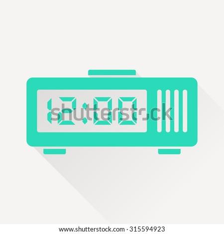 alarm clock icon - stock vector