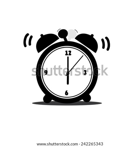 Alarm clock icon, vector illustration - stock vector