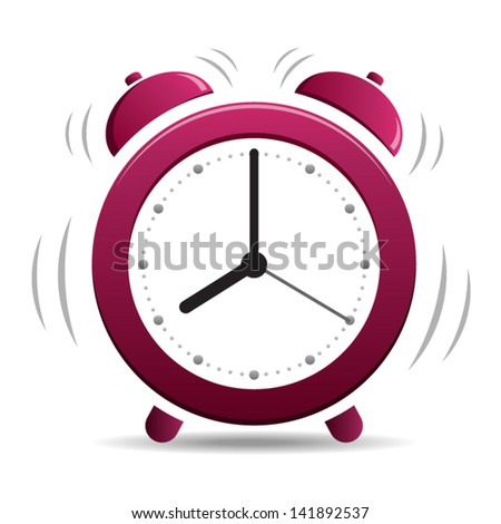 Alarm Clock simple - icon isolated on white background. Vector - stock vector
